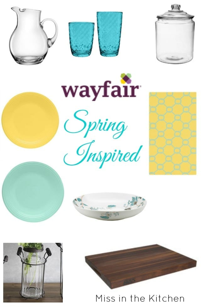 Spring Inspired with Wayfair with Homemade Lemonade Recipe from Miss in the Kitchen #ad #SpringInspired