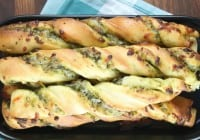 Cheesy Pesto Breadsticks