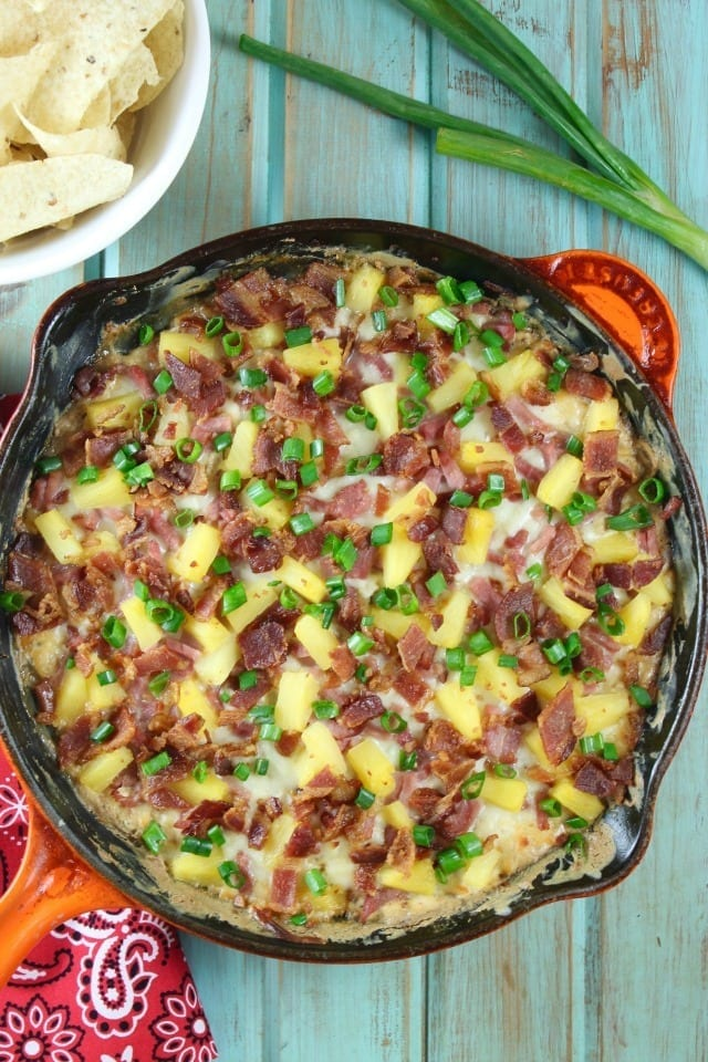 Hawaiian Onion Dip Recipe is a kicked up version of everyone's favorite onion dip! Perfect appetizer for any party or get together. From MissintheKitchen.com