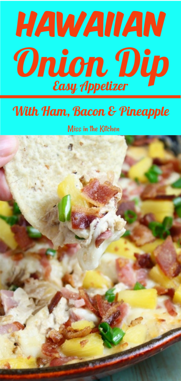 Hawaiian Onion Dip Recipe with pineapple