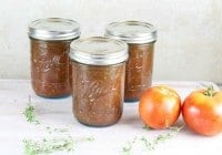 Jars of Roasted Tomato and Onion Sauce ~ MissintheKitchen
