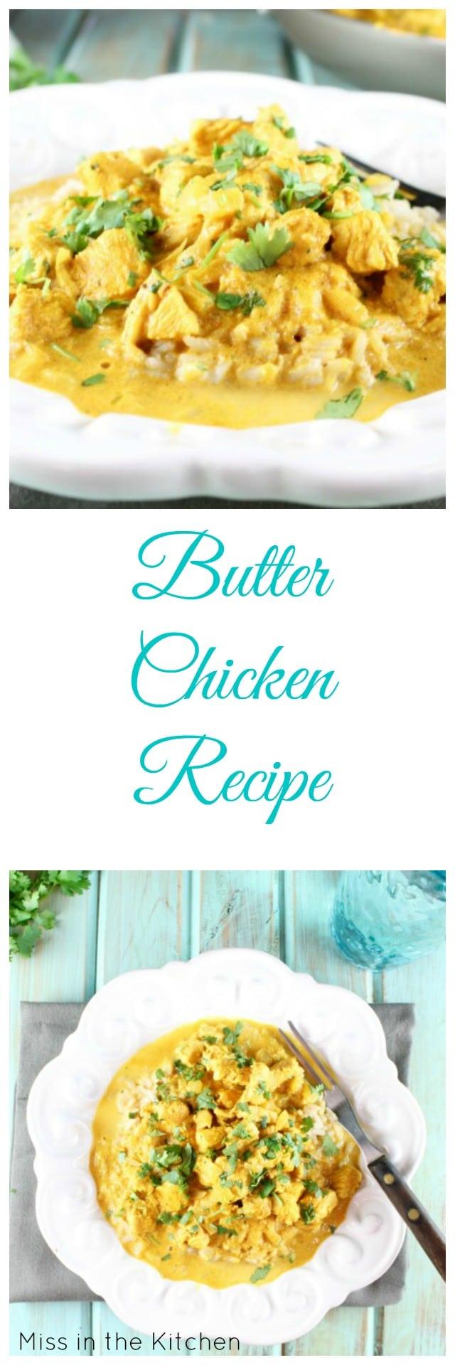 Butter Chicken Recipe from MissintheKitchen #ad #TeamFarberware