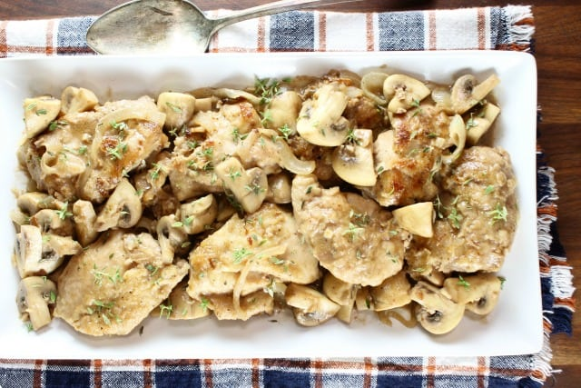 Creamy Balsamic Chicken Skillet Dinner Recipe ~ MissintheKitchen.com