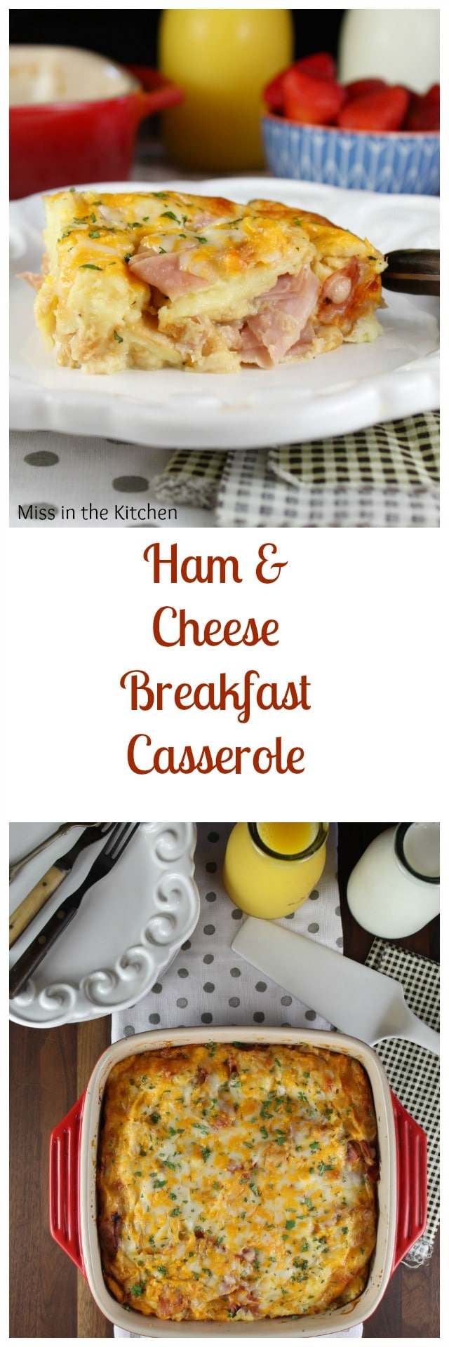 Ham and Cheese Breakfast Casserole - overnight recipe from MissintheKitchen.com #ad #CollectiveBias #BeyondTheSandwich