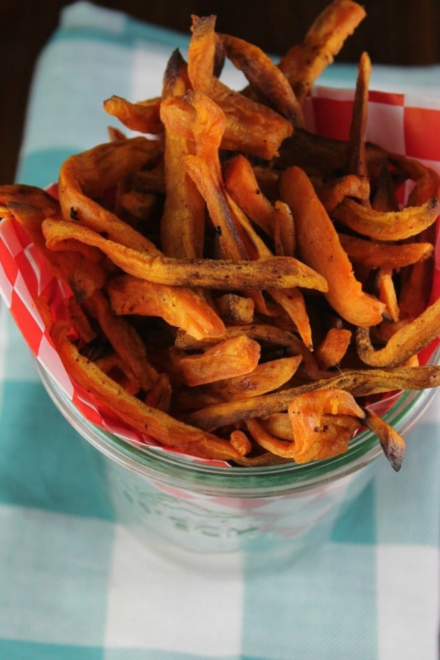 Sweet Potato Fries Recipe from the new TCHS Cookbook ~ MissintheKitchen.com #ad