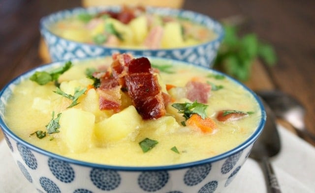Creamy Ham and Potato Soup | Miss in the Kitchen #ad