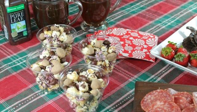 Smartfood Indulgences Raspberry Dark Chocolate Popcorn Mix ~ No Fuss Holiday Cocktail Party ~ MissintheKitchen #ad