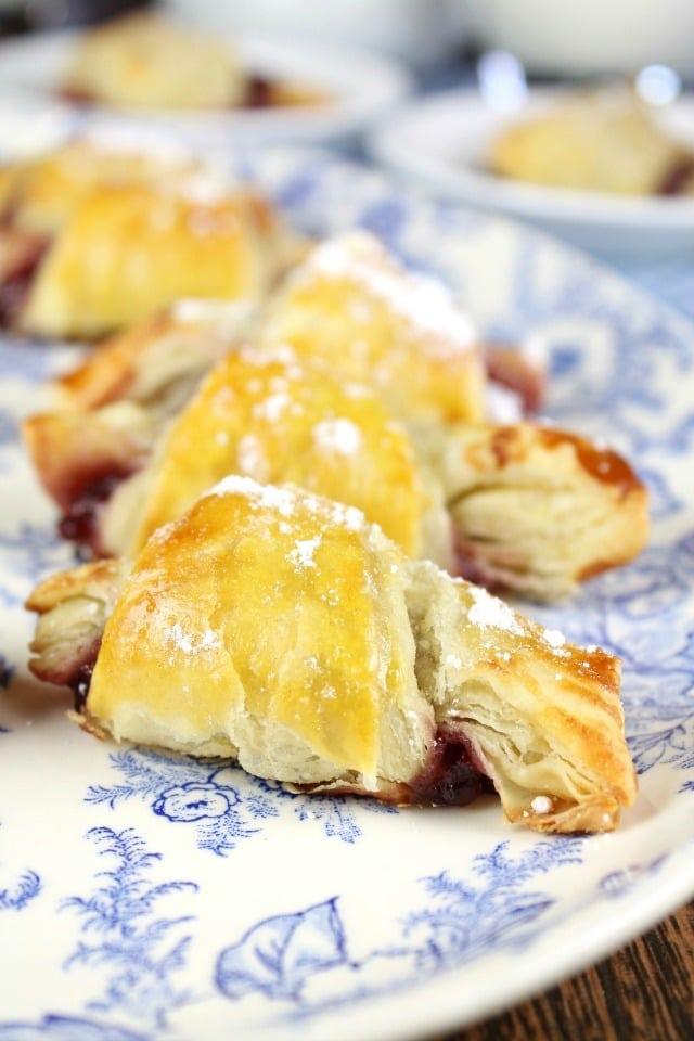 Mini Raspberry Croissants Dessert recipe found at MissintheKitchen.com