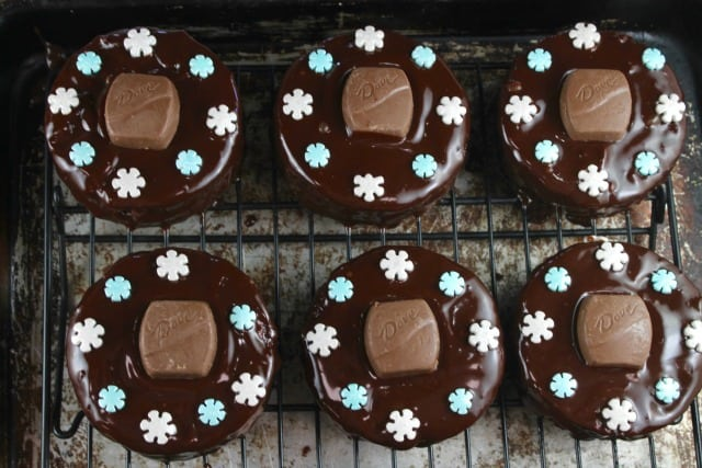 Triple Chocolate Snack Cakes are a super cute treat to bake and share! From MissintheKitchen.com #ad