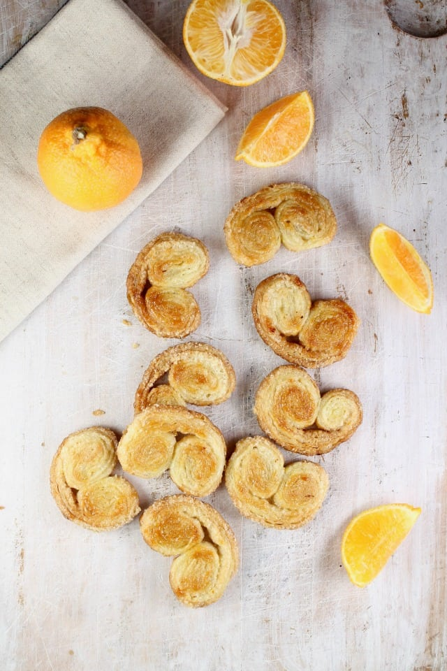 Orange Scented Palmiers Recipe ~ MissintheKitchen.com