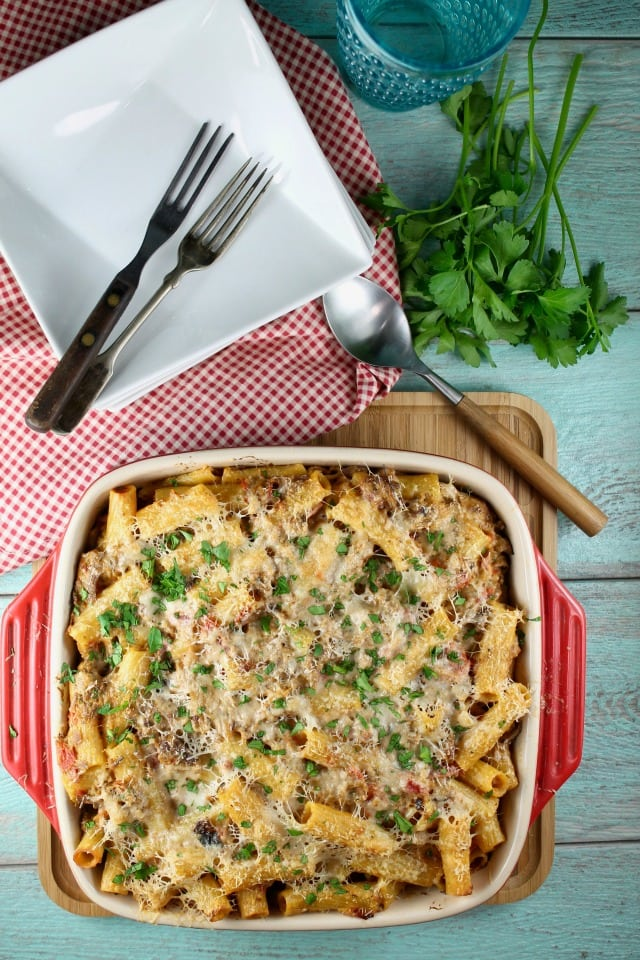 Cheesy Beef Rigatoni Casserole Recipe | Miss in the Kitchen | Easy Dinner | Beef recipe