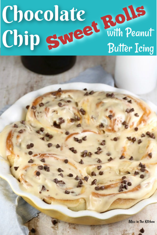 How to Make Chocolate Chip Sweet Rolls with Peanut Butter Icing