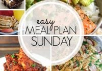 Easy Meal Plan Sunday {96}