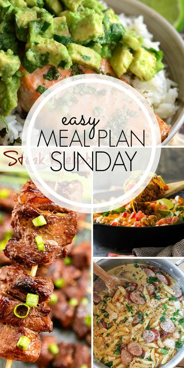 Easy Meal Plan Sunday {96} From MissintheKitchen.com
