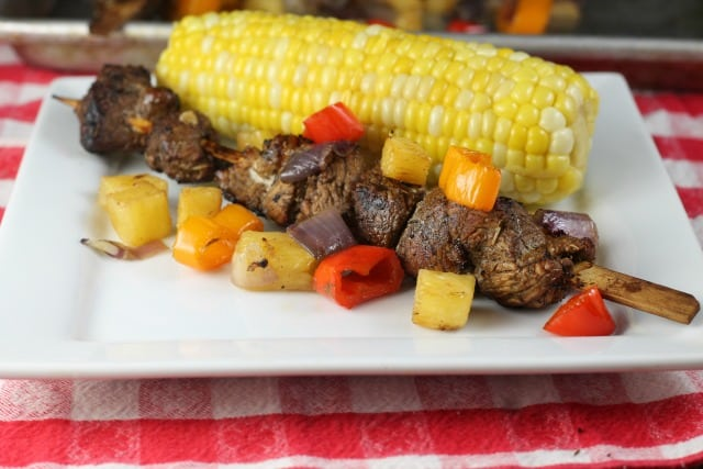 Balsamic Pork Skewers Recipe from Miss in the Kitchen
