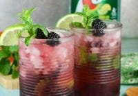 Easy Blackberry Mojitos