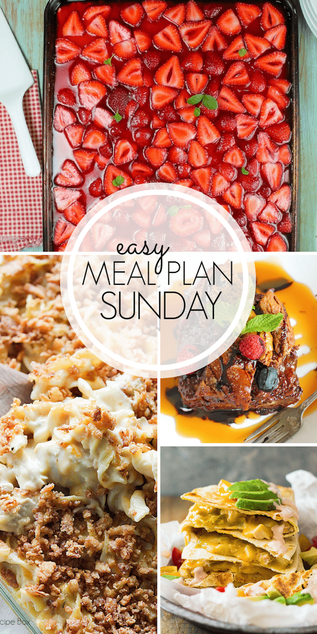Easy Meal Plan Sunday {week 104} From MissintheKitchen.com