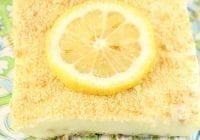 Lemon Icebox Cheesecake Recipe ~ Perfect no bake summer dessert ~ From MissintheKitchen.com