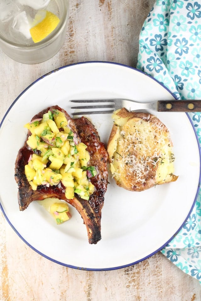Pineapple Jalapeno Relish ~ delicious addition to grilled pork chops and more this summer ~ from MissintheKitchen.com