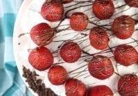 Hazelnut Gelato Pie Recipe from MissintheKitchen #sponsored by HemisFares