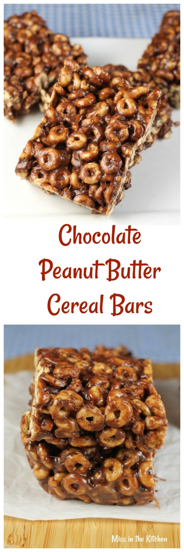 Chocolate Peanut Butter Cereal Bars + #BoxTops for Education ~ Sponsored by Walmart from MissintheKitchen.com