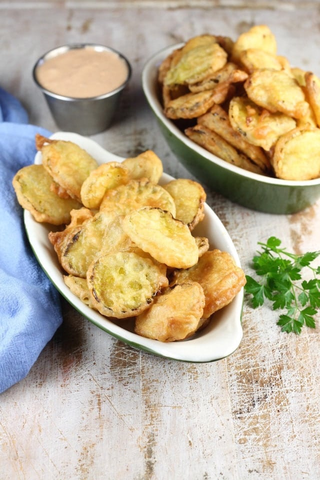 Fried Pickles ~ delicious appetizer recipe from MissintheKitchen.com