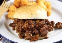 Dr. Pepper Barbecue Sloppy Joes Recipe ~ quick and easy meal to feed a crowd ~ MissintheKitchen.com #ad @DrPepper