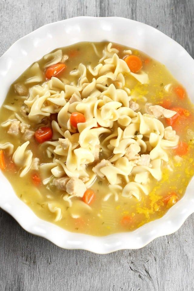 Chicken Noodle Casserole Recipe from MissintheKitchen.com
