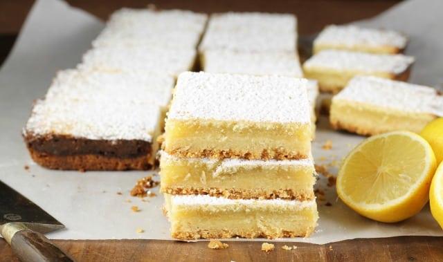 Easy Lemony Lemon Bars Recipe from Missinthekitchen.com