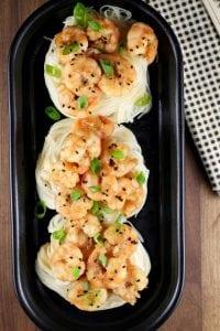 Miso Honey Garlic Shrimp Recipe ~ MissintheKitchen.com #ad #hemisfares