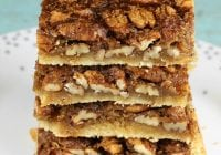 Easy holiday dessert: Brown Sugar Pecan Pie Bars from MissintheKitchen.com #AD @Pillsbury @Walmart #thanksgiving #christmas #holiday #dessert