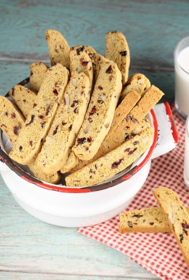Cranberry Pecan Biscotti ~ Large batch recipe