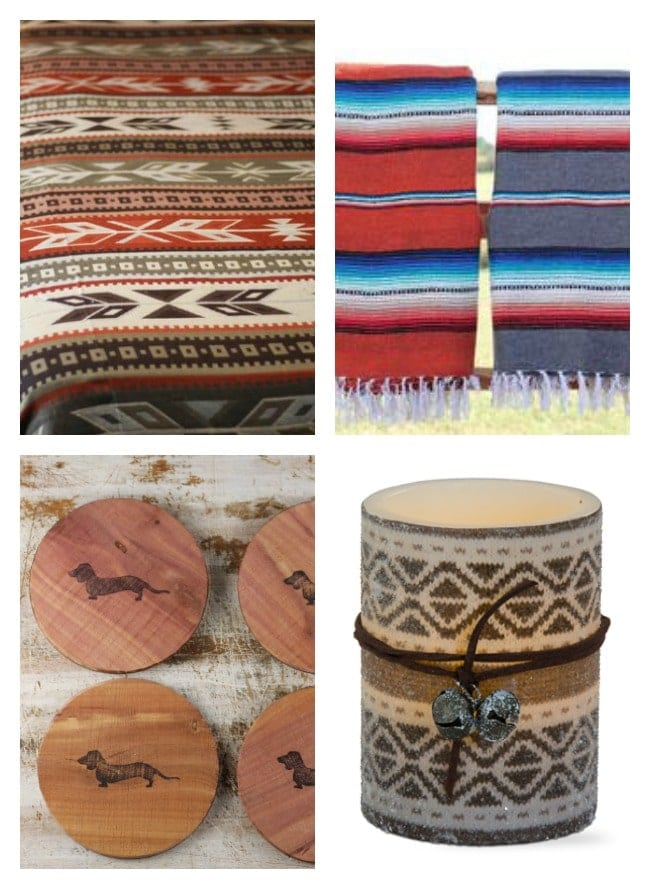 Red River Iron ~ Gift Idea Roundup ~ Southwest Bedding, Candles. Coasters and more.