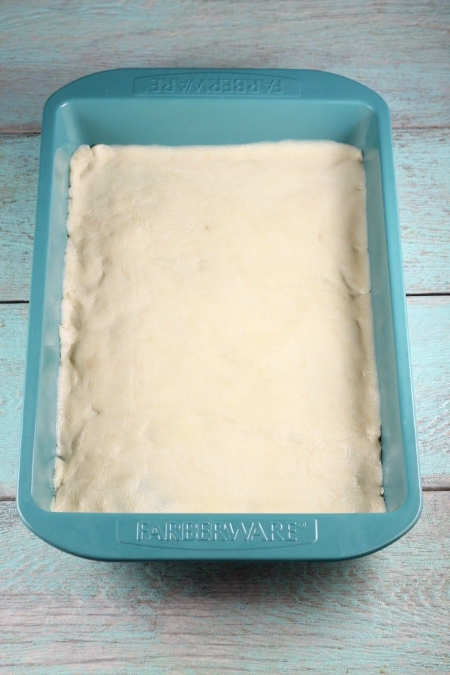 Sugar Cookie Dough for Brown Sugar Pecan Pie Bars Recipe ~ MissintheKitchen.com #AD