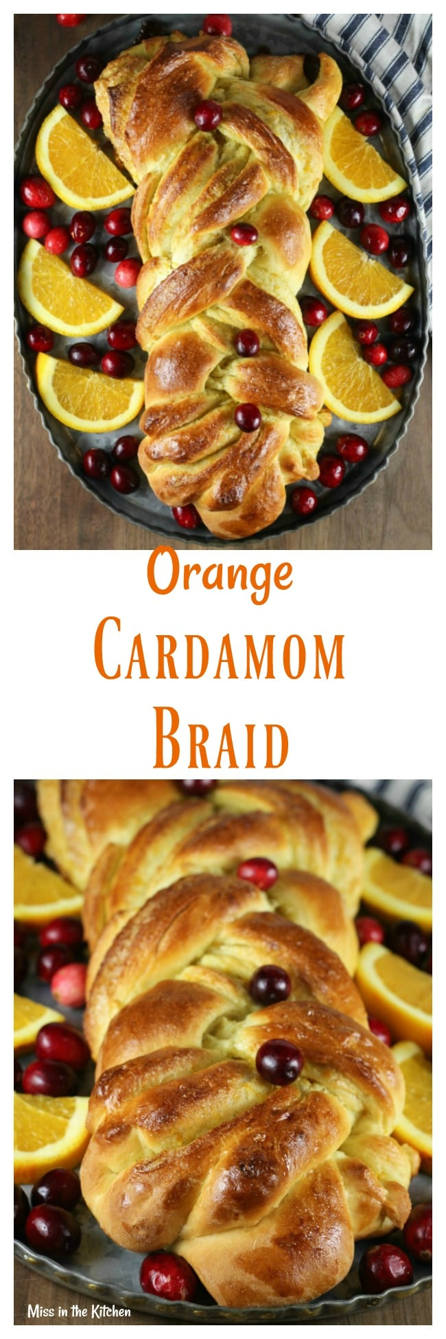 Orange Cardamom Braid Recipe from MissintheKitchen.com #ad @Redstaryeast #holiday #bread #orange