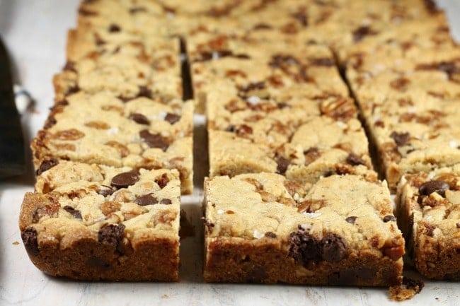 Salted Caramel Cookie Bars ~ Sliced