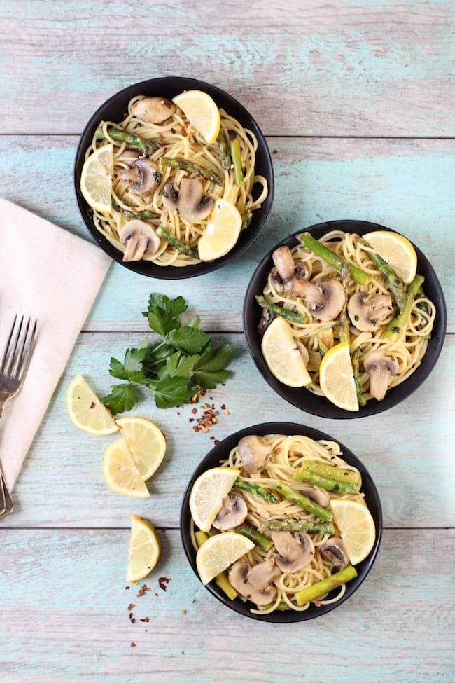 Easy Lemon Parsley Angel Hair Pasta