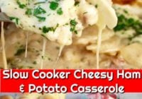 Slow Cooker Cheesy Ham and Potato Casserole