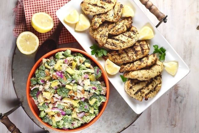 Lemon Herb Chicken & Broccoli Pineapple Salad