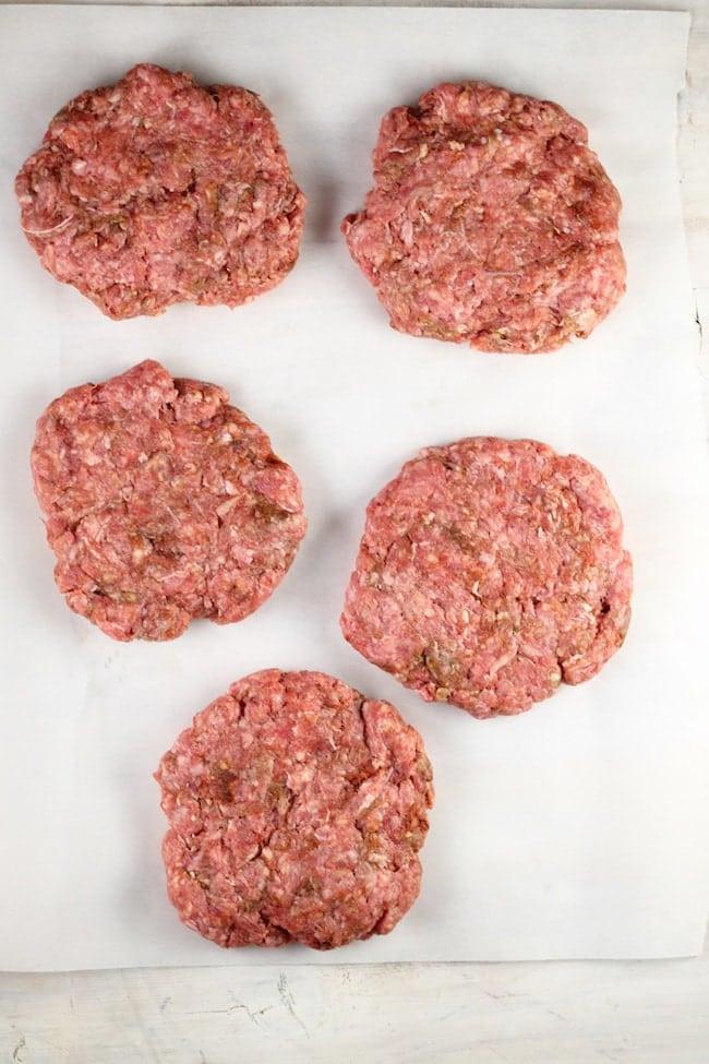 ground chuck beef patties for fajita burgers