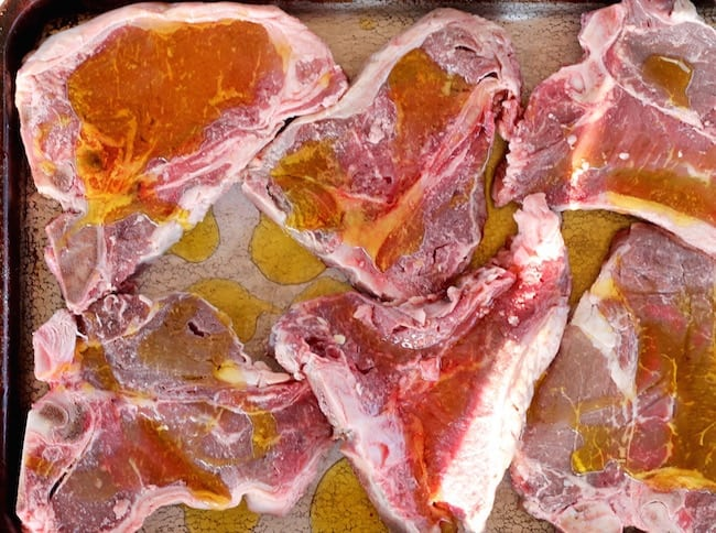 T- Bone Steaks with Olive oil