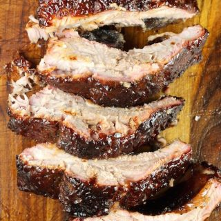 Sliced Dr Pepper Barbecue Ribs
