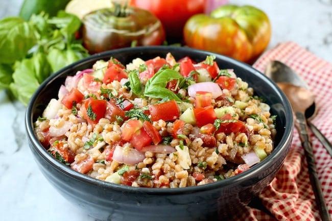 Easy Greek Farro Salad