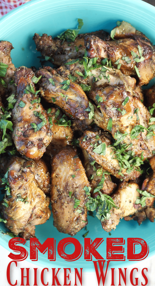 Smoked Chicken Wings with Italian Glaze Appetizer
