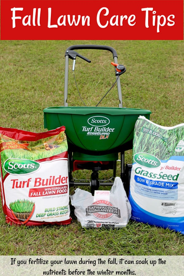 Fall Lawn Care Tips ~ If you fertilize your lawn during the fall, it can soak up the nutrients before the winter months.