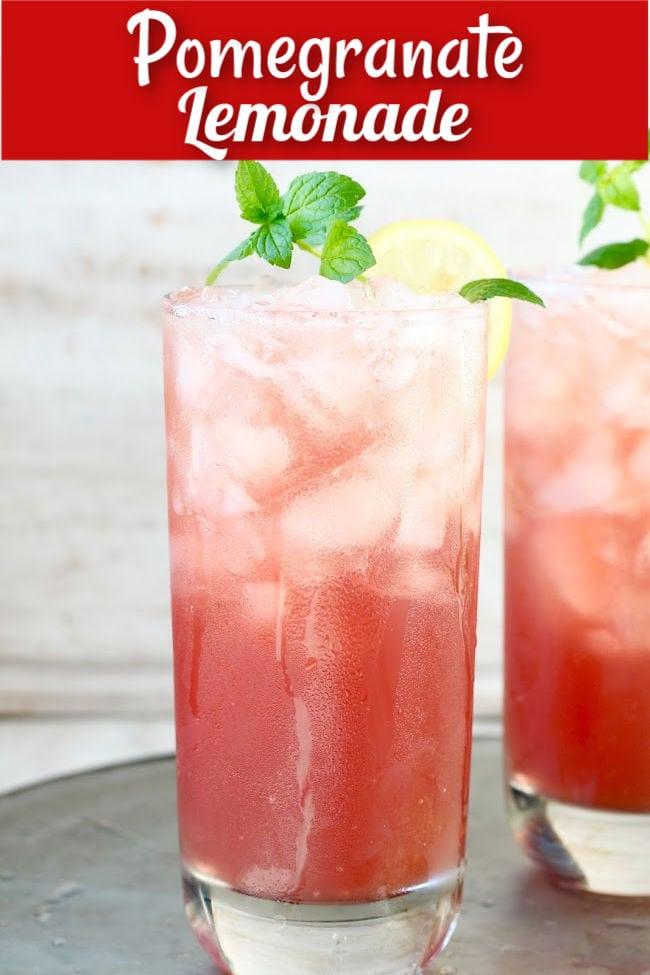 Easy Pomegranate Lemonade Recipe