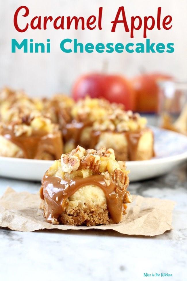 Caramel Apple Mini Cheesecakes Dessert