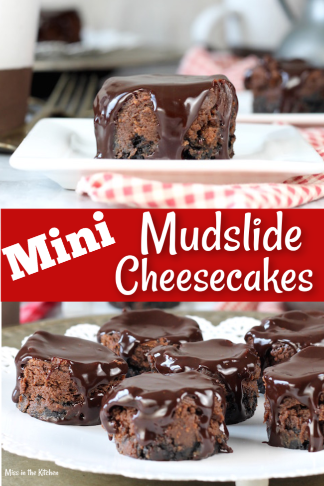 How to Make Mini Mudslide Cheesecakes