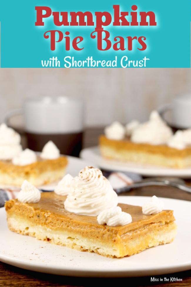 The Best Pumpkin Pie Bars with Shortbread Crust