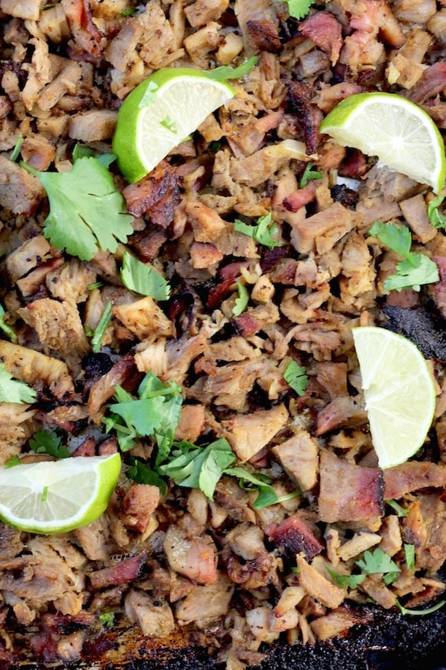 Easy smoked carnitas for tacos